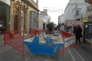 Obras en la calle Colón.