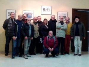 Varios miembros de AFIL ayer, durante la inauguración