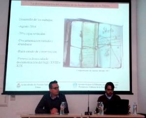 Antonio de la Cruz y Moisés Camacho, durante la ponencia.