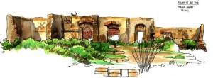 El Molino de San José en un dibujo del autor del artículo.