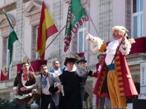 Actuando junto a los compañeros de 'De Ida y Vuelta'.