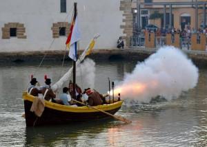 Embarcaciones cañoneras de la Fundación Legado de Las Cortes.