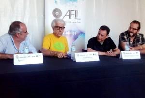Escuín, Ochoa, Formanti y Ramos en una fotografía de Carmen Orcero.