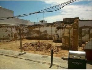 La casa de Camarón, derribada.