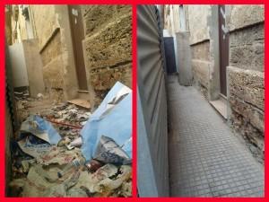 La trasera del Ayuntamiento. Antes y después