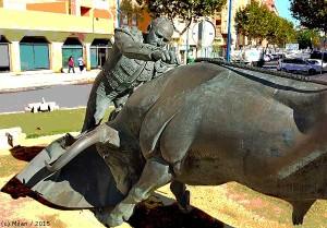 Monumento a Rafael Ortega, en León Herrero.