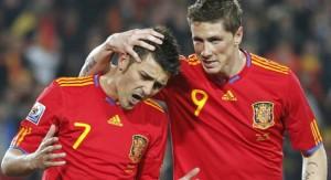 Villa y Torres en su etapa en la selección española.
