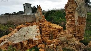 Zona afectada del Cementerio.
