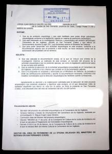 Foto de la propuesta enviada, a fecha de 17 de noviembre.