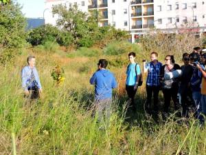 Parte del equipo, durante el primer día de rodaje.