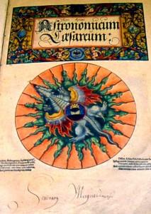 Detalle del ejemplar del ROA del Astronomicum Cesaerum.
