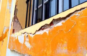 Estado de la fachada de la Compañía de María.