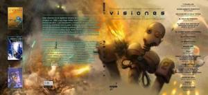 """Portada de """"Visiones 2016"""", la antología de Ciencia Ficción organizada por la Asociación Española de Fantasía, Ciencia Ficción y Terror (AEFCFT)."""