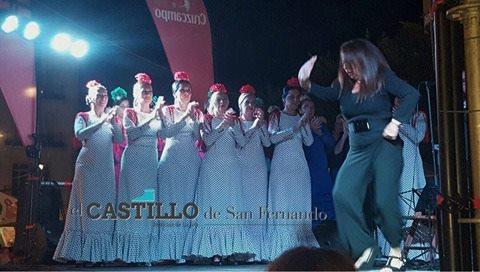Actuación del cuadro flamenco 'Las Taitanto'.