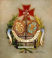 El lema y escudo de la Hermandad.