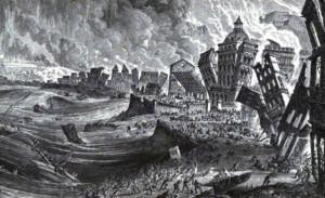Imagen idealizada del desastre natural.